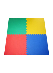 Rainbow Toys 4 Piece Rubber Play Mat Set, Ages Upto 12 Months, Multicolor