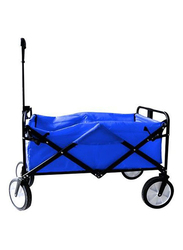 Rainbow Toys Folding Shopping Cart Trolley, 52 x 82 x 57cm, Blue