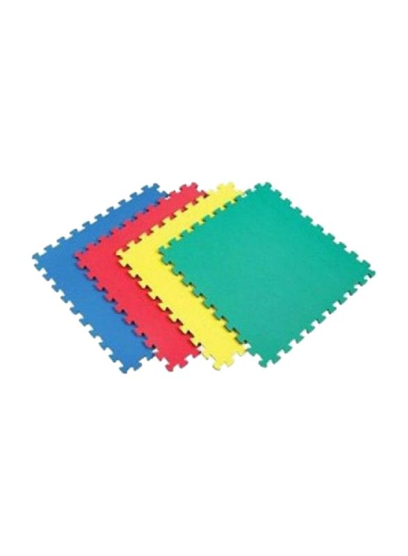 Rainbow Toys 4 Piece Plain Mat Set, 24inch, Ages 3+, Multicolor