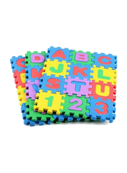 Rainbow Toys 36-Piece Alphabets and Number Puzzle Mat Set, Multicolor