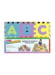 Rainbow Toys Alphabet Letters Foam Puzzle Mat, Multicolor