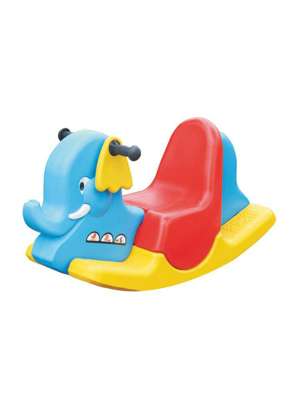 Rainbow Toys Three Color Rocking Elephant Ride On for Single Kid, Ages 2+