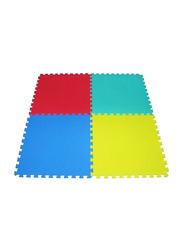 Rainbow Toys 4-Piece Exercise Play Puzzle Plain Foam Mat Set, 50cm, Multicolor
