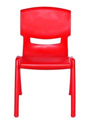 Rainbow Toys Plastic Kids Chair, 44cm, Red