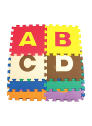 Rainbow Toys Numbers and Alphabets Printed Foam Mat Set Puzzles, Multicolor