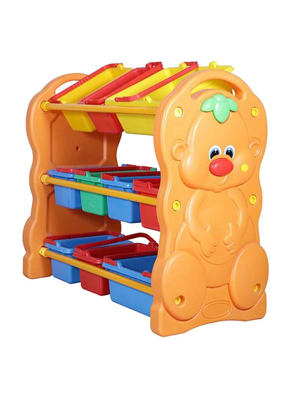 Rainbow Toys 3 Layer Storage Rack, Multicolor