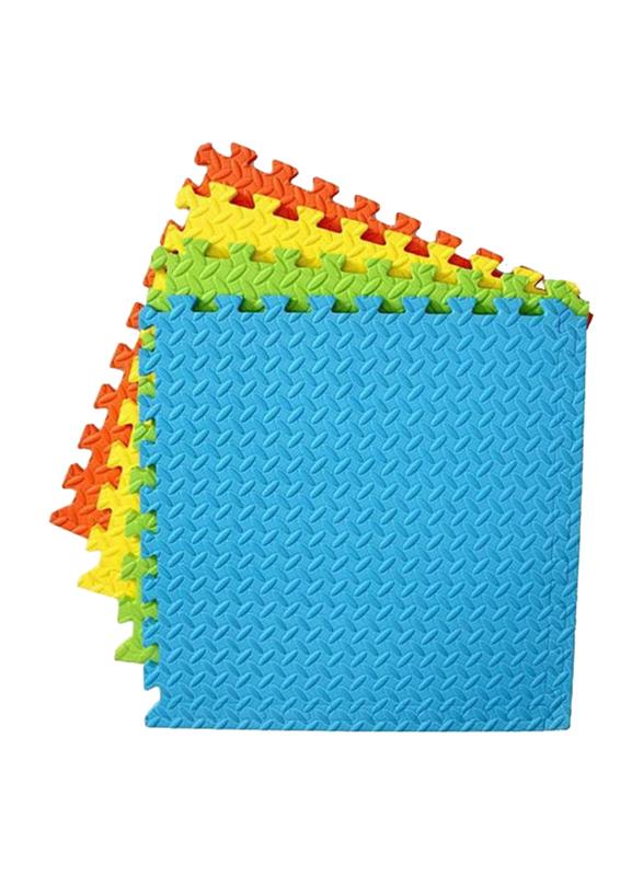Rainbow Toys 4-Piece Exercise Play Puzzle Plain Foam Mat Set, 25cm, Multicolor