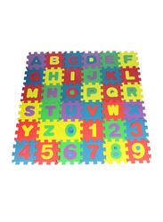 Rainbow Toys 36-Piece Children's Alphanumeric Educational Toys Foam Puzzle Mats, Multicolor