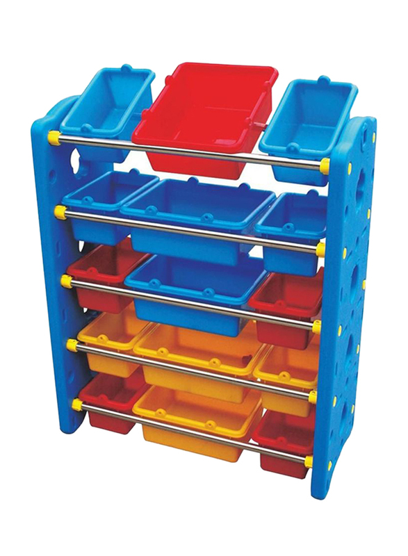 Rainbow Toys 15 Containers Toys Organizing Shelf, Multicolor