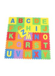 Rainbow Toys 26-Piece A-Z Alphabets EVA Rubber Play Mat Puzzle, Multicolor