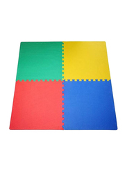 Rainbow Toys 4 Piece Soft Foam Interlocking Mat, Ages 3+, Multicolor