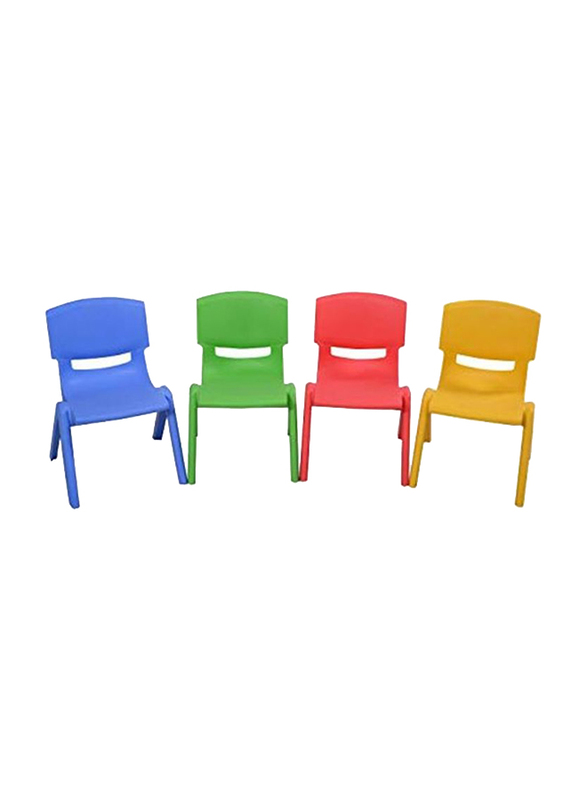 Rainbow Toys Kids Chairs Set, 4 Pieces, Multicolor