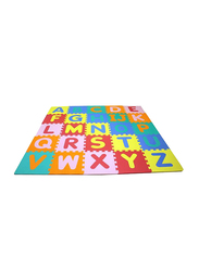 Rainbow Toys 26-Piece Set Alphabet and Number Puzzle Mat, Multicolor