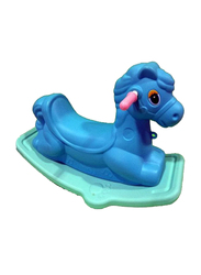 Rainbow Toys Rocking Horse Seesaw, 68 x 30 x 43cm, Blue, Ages 3+