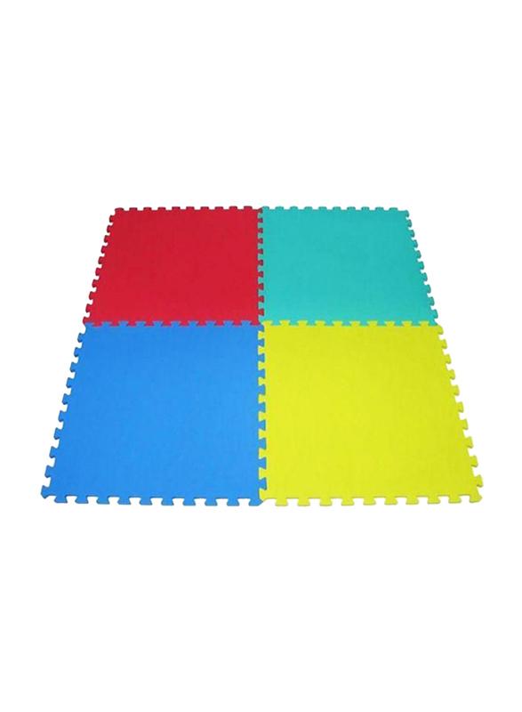 Rainbow Toys 4-Piece Exercise Play Puzzle Plain Foam Mat Set, 60cm, Multicolor