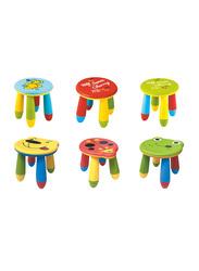 RBWTOYS Colourful Premium Quality Indoor Kids Round Stool, RW-17112, 28 x 25.6cm, Assorted