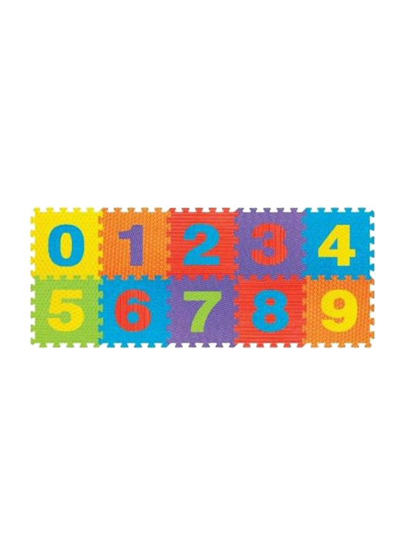 Rainbow Toys 10-Piece Number Puzzle Mat Set, Multicolor