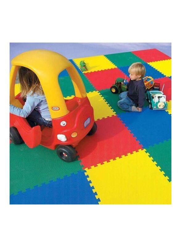 Rainbow Toys 4 Piece Protective Floor Playmat, Ages 3+, Multicolor