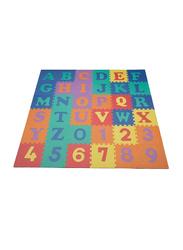 Rainbow Toys 36-Piece Alphabets and Number Puzzle Foam Mat Set, 18801-2, Multicolor