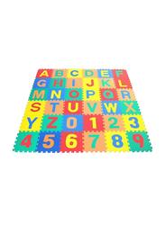 Rainbow Toys 36-Piece Number and Alphabets Puzzle Foam Mat Set, Multicolor