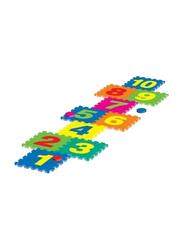 Rainbow Toys Outdoor Hopstotch Puzzle Mat Set, Multicolor