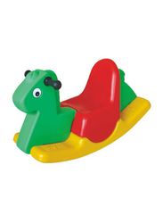 Rainbow Toys Three Color Rocking Buffalo Ride On for Single Kid, Ages 2+