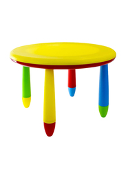 Rainbow Toys Multi-Use Plastic Table, Yellow/Blue/Green/Red