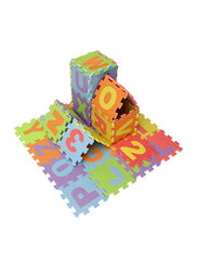 Rainbow Toys 36-Piece Set Letters and Number Puzzle Play Mat, Multicolor