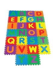 Rainbow Toys 26-Piece Set Alphabet Printed Puzzles Foam Mat, Multicolor