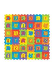 Rainbow Toys 36-Piece Alphabet and Number Puzzle Foam Mat Set, Multicolor