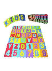 Rainbow Toys 36-Piece Alphabet & Numeric Puzzle Play Mat, Multicolor