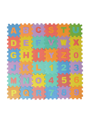 Rainbow Toys 36-Piece Alphabet & Numbers Puzzle Mat, Multicolor