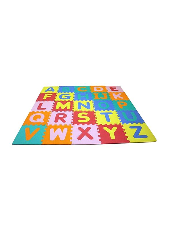 Rainbow Toys 26-Piece Protective Floor Alphabet Puzzle Mat Set, Multicolor
