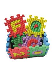 Rainbow Toys 36-Piece Alphabet and Number Puzzle Foam Mat Set Multicolor