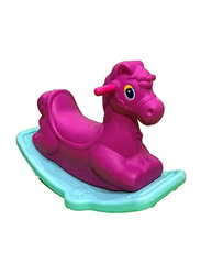 Rainbow Toys Rocking Horse Colorful Ride On Rocker, Purple/Green, Ages 2+