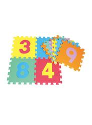 Rainbow Toys Interlocking Numbers Play Mat Puzzle, Multicolor