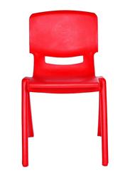 Rainbow Toys Plastic Kids Chair, 35cm, Red