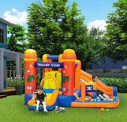 Rainbow Toys Treasure Island Household Children Inflatable Water Park Castles, Ages 4+