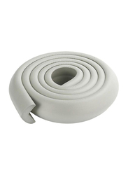 Rainbow Toys 2-Meter Rubber Foam Corner Protector Strip with 2 Corner Guards, Grey