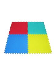 Rainbow Toys 4-Piece Exercise Play Puzzle Plain Foam Mat Set, 15cm, Multicolor