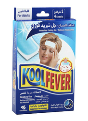 Kool Fever Immediate Cooling Gel for Adults, 4 Sheets