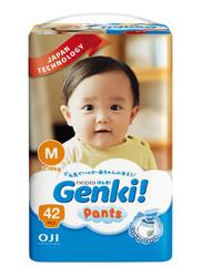 Genki Diaper Pants, Size M, 7-10 kg, Jumbo Pack, 42 Count