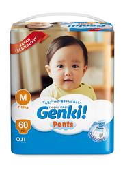 Genki Diaper Pants, Size M, 7-10 kg, Mega Pack, 60 Count