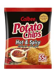 Calbee Hot & Spicy Potato Chips, 55g