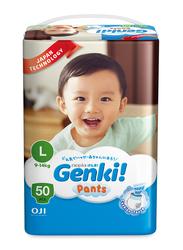 Genki Diaper Pants, Size L, 9-14 kg, Mega Pack, 50 Count