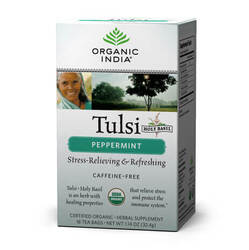 Organic India Tulsi Peppermint  - 18 Tea Bags
