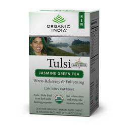 Organic India Tulsi Jasmine Green Tea  - 18 Tea Bags