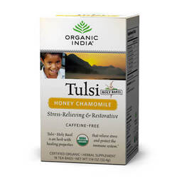 Organic India Tulsi Honey Chamomile  - 18 Tea Bags