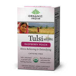 Organic India Tulsi Raspberry Peach  - 18 Tea Bags