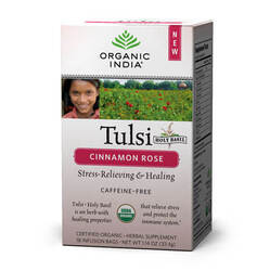 Organic India Tulsi Cinnamon Rose - 18 Tea Bags